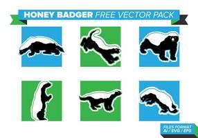 Pacote de vetores grátis de Badger de mel