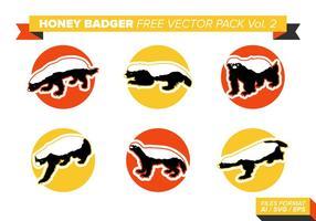 Pacote de vetores grátis de Badger de mel Vol. 2