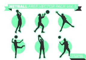 Pacote vetorial netball grátis vol. 5 vetor