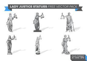 Estátua da justiça da senhora pacote de vetores grátis