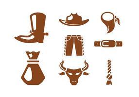 Ícones do vetor Rodeo