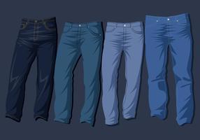 Vetor livre jeans azul