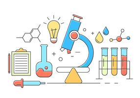 Ícones de química grátis vetor