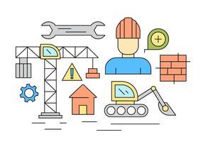 Ícones de construção grátis vetor