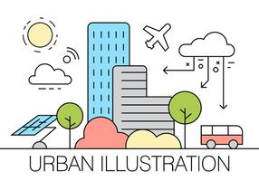 Ilustração Urbana Livre vetor