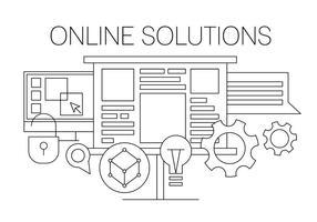 Ilustração vetorial solução online vetor