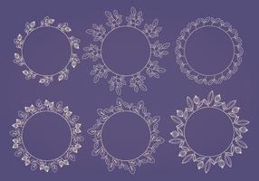 Coleção de grinaldas de flores vetoriais vetor