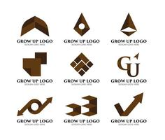 Logotipo de crescimento vetor