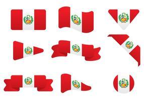 Bandeira de Peru vetor