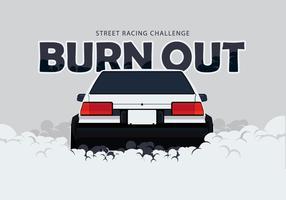 Ae86 carro drifting e burnout ilustração