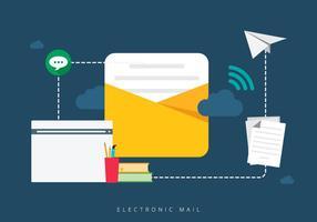 Combine o correio eletrônico móvel vetor