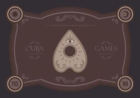Ilustração de jogos mágicos de ouija vetor