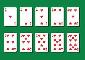 Vetores do cardápio de poker cardíaco