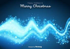 Espectro azul abstrato para decoração de inverno vetor