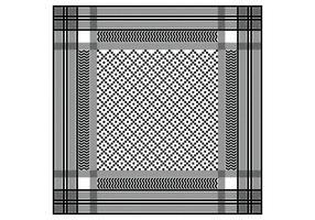 Keffiyeh Black Seamless Pattern vetor