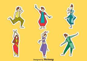 Vetor de coleção de dança bollywood