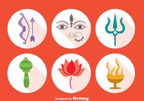 Conjunto de vetores do elemento Festival de Durga