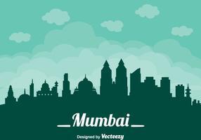 Vulcão de Cityscape de Mumbai vetor