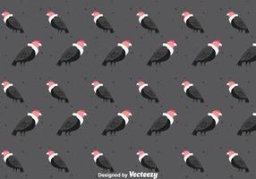 Padrão sem costura de condor bird vetor
