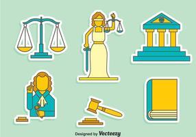 Conjunto de vetores de elementos de justiça