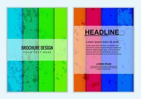 Brochura de negócios coloridos de vetores grátis