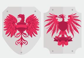Vetores de escudo do logotipo da águia polonesa