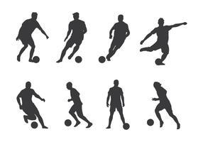 Vetores do jogador de futebol