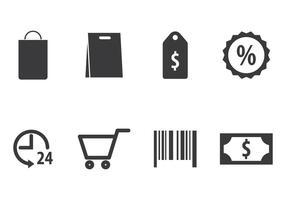 Conjunto de ícones de compras vetor