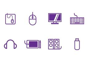 Conjunto de ícones de computador vetor