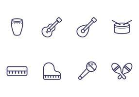 Ícone do Instrumento de Música vetor