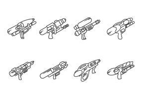 Vetores de pistola de água