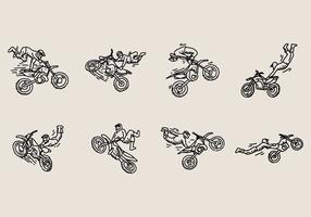 Ícone do estilo livre do motocross vetor