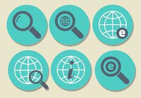 Conjunto de ícones do Internet Explorer