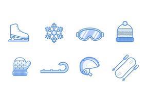 Vetor de ícones do esporte de inverno livre