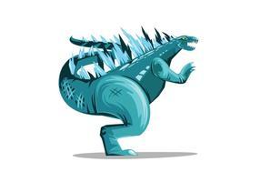 Arte do vetor Godzilla