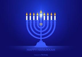 Fundo de vector de hanukkah feliz grátis