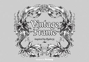 Quadro de vetores ornamentado vintage gratuito