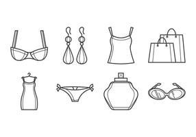 Vetor de ícones de moda grátis