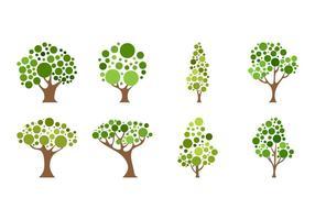 Vector de ícone de árvore de desenho animado grátis