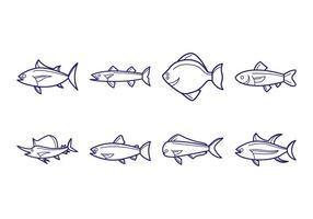 Vetor de ícone de peixe grátis