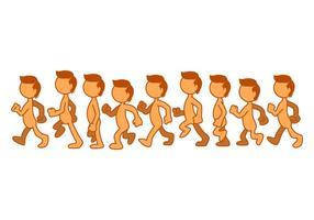 Vetor grátis da ilustração do ciclo da caminhada das crianças