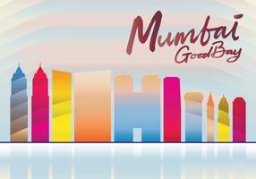 Skyline de Mumbai vetor