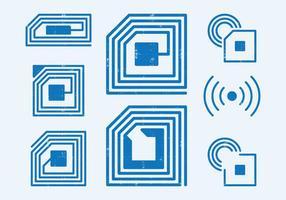 Símbolo de identificação por radiofrequência vetor