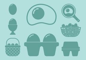 Ícones de ovo vetor