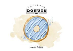 Free National Doughnut Day Watercolor Vector