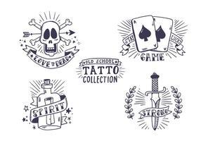 Coleção gratuita de tatuagem da velha escola vetor