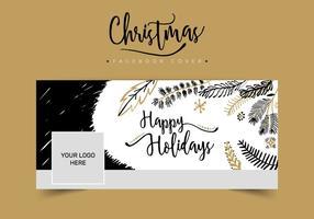 Capa de Facebook do Natal vetor