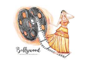 Fundo gratuito de Bollywood vetor