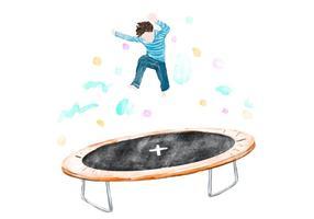 Vector de aquarela grátis para trampolim