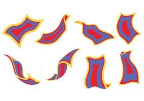 Vetor de ícones de tapete mágico grátis